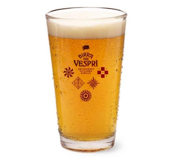 bicchiere da birra dei vespri